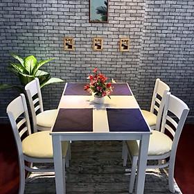 Bộ bàn ăn CB trắng 4 ghế cao cấp