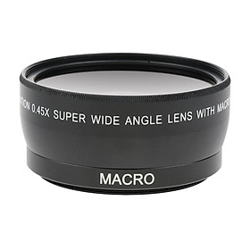55mm 0.45X Wide Angle +  Conversion Lens for    Camera