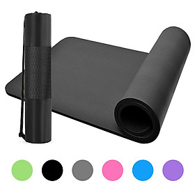 10mm Thick Yoga Mat Non-Slip Exercise Mat Pad with Carrying Strap and Mesh Bag for Home Gym Fitness Workout Pilates