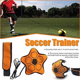 Children Football Training Device Soccer Trainer Ball Control Goal Kick Practice