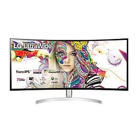 Màn Hình Cong LG 34WK95C-W 34'' 21:9 UltraWide QHD (3440 x 1440) 5ms 75Hz Nano IPS VESA DisplayHDR 400 Radeon FreeSync Stereo Speaker (7W x 2) - Hàng Chính Hãng