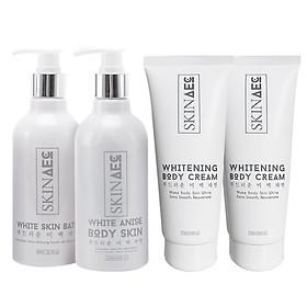 Combo Skin AEC Dưỡng Trắng Da Chuyên Sâu + Tặng Kem Dưỡng Trắng Da Skin AEC Sun Body Lotion Makeup