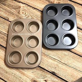 Khay Khuôn làm bánh CupCake Chống Dính Loại 6 và 12 ô. Dung cụ làm bánh NƯỚNG Bánh QUI, Muffin, Tart, Pie. DỤng cụ làm bánh Nướng hấp chuyên nghiệp. Phù hợp mọi Gia đình Nhà hàng