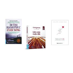 Combo 3 cuốn sách: Đi Tìm Hạnh Phúc Cuộc Sống + Làm Chủ Cuộc Đời + Học cách mỉm cười