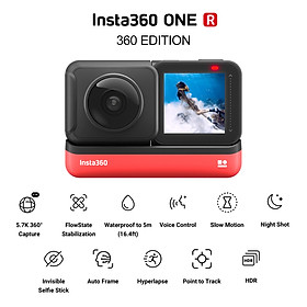 Insta360 ONE R 360 EDITION Anti-shake Sports Action Camera with 5.7K 360° Panorama Lens 5M Body Waterproof Supports