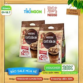 [Chỉ giao HN] Combo 2 Bịch Cà phê sữa NESCAFÉ Cà phê sữa đá (Bịch 25 gói x 24 g)
