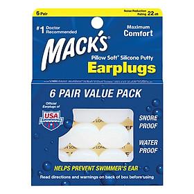 Hộp 6 Đôi Nút Bịt Tai Chất Liệu Silicon Pillow Soft® Marck's #7