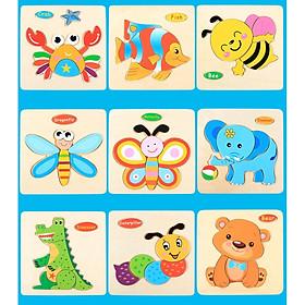 Combo 10 tranh ghép hình nổi cho bé ghép hình