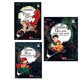 Sách Chiếu Bóng - Rạp Chiếu Phim Trong Sách - Các Loài Động Vật Nuôi + Cô Bé Quàng Khăn Đỏ + Thánh Gióng