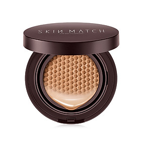(SKINMATCH) Detail Concealer Cushion BB Cream 15g * 2 (SPF30PA ++ Sunscreen Stereo Honeycomb Sponge Powder Foundation Replacement)