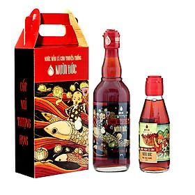 Hình đại diện sản phẩm Combo 2 chai cốt nhĩ thượng hạng Mười Đức 500ml + hảo hạng Mười Đức 200ml