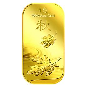 Miếng Vàng Chiếc Lá Tượng Trưng Cho Mùa Thu 1G - Vàng 999.9