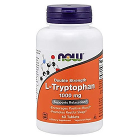 NOW L-Tryptophan, 1000 mg, 60 Tablets
