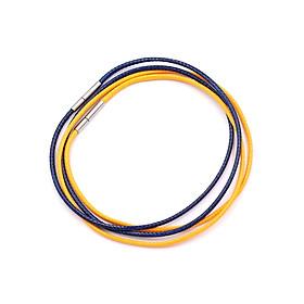 Combo 2 sợi dây vòng cổ cao su - xanh dương + vàng DCSXDV1