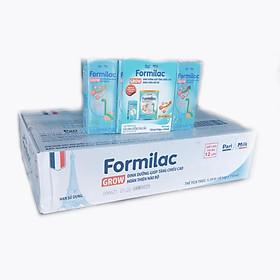 Thùng sữa dinh dưỡng pha sẵn Formilac Grow 110ml – Dinh dưỡng giúp tăng chiều cao, hoàn thiện não bộ