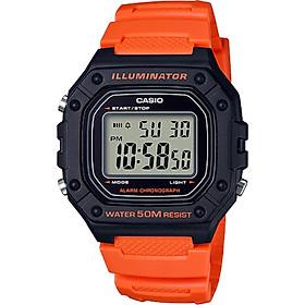 Đồng hồ nam dây nhựa Casio W-218H-4B2VDF