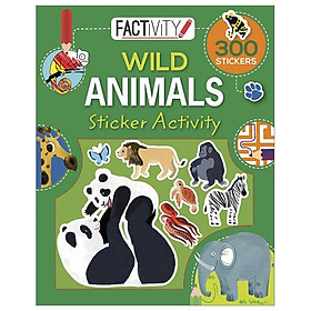 Factivity Balloon Sticker Activity Book - Wild Animals
