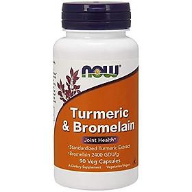 Viên Uống Now Foods Turmeric (Nghệ) & Bromelain