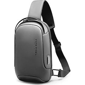 Túi đeo chéo nam thời trang chống nước MARK RYDEN 2020 tích hợp cổng sạc USB thông minh