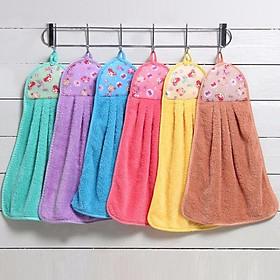 Bộ 6 khăn lau tay nhà bếp nhà vệ sinh chất bông mềm thấm nước
