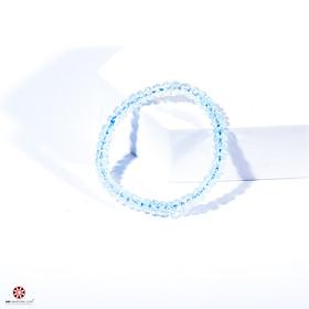 Vòng tay Đá Hoàng Ngọc - Topaz tự nhiên 100% đem lại bình an, may mắn - Hợp mệnh Thủy, Mộc - Nhiều kích thước lựa chọn | VietGemstones