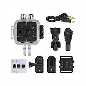 SQ12 1080P HD Mini Sports DV Camcorder Action Camera With Night Vision/ Motion Detection/ 155° Wide Angle Lens/ 30m