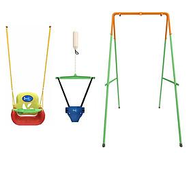 Combo Bộ Xích đu Nhún nhảy Tập đi Jumper Kids KG101+ Ghế Xích đu Đa năng tích hợp Bàn Ăn dặm (Chính hãng)
