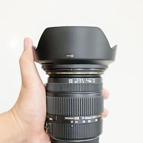 Loa che nắng lens hood cho ống kính Sigma 17-50mm F2.8, 24mm f/1.8, 28mm f/1.8 - hàng for thay thế LH825-03