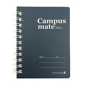 Sổ Lò Xo Ghi Chú Morning Glory Campus Mate - Màu Xanh Đen