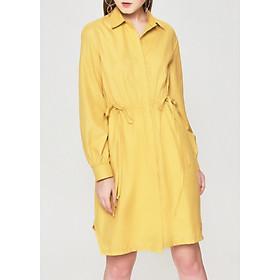 Đầm Sơ Mi Tay Dài Nhún Eo Marc Fashion - CH075418