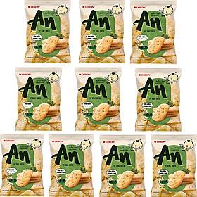 Thùng 10 Bịch Bánh Gạo Nướng An Vị Tảo Biển (14Gói x 7.95g)