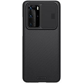 Ốp lưng PC vân sần không bám vân tay, có lắp bảo vệ cụm camera cho Huawei P40 Pro Nillkin Camshield Case- Hàng chính hãng.
