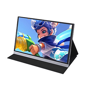 AOSIMAN Portable 15.6inch 4K LCD Screen 72% NTSC 16.7 Million Colors Gaming Monitor Portable Display IPS Panel Fast