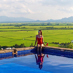 Victoria Núi Sam Lodge Hotel 3* - Hồ Bơi Vô Cực, Bữa Sáng, View Đồng Lúa Cực Đẹp