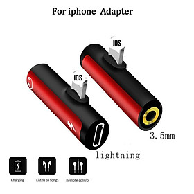2-in-1 Type-C 3.5mm Jack Interface for Headphone Adapter Charger and Earphone Splitter Dongle Audio Convertor Compatible with iPhone Cellphones