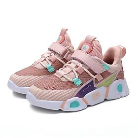Giày bé gái 3 - 15 tuổi dáng sneaker năng động và cá tính GE58