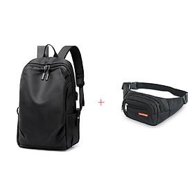Balo  đi học đựng laptop tặng kèm túi đeo bụng CB8001