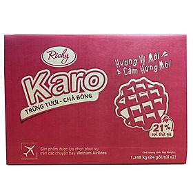 Thùng 48 chiếc Bánh trứng tươi chà bông Karo Richy
