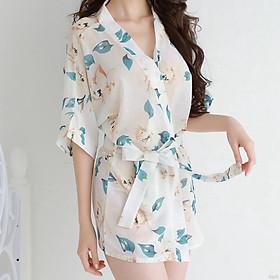 Váy ngủ kimono tặng quần lót cùng bộ
