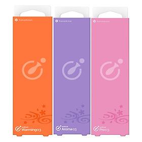 Combo 3 gel bôi trơn Pro tiêu chuẩn+ Warrming làm ấm+ Aroma hương thơm HANAMISUI (1.7g x 3 cây)