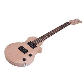 Bộ Lắp Ráp Đàn Guitar Điện Tử Muslady LP DIY Cho Bé Gồm Thân Đàn Gỗ Gụ, Cổ Đàn Gỗ Hồng Sắc, Bàn Phím Hợp Âm, Cuộn Dây Kép