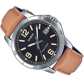 Đồng hồ nam dây da Casio Anh Khuê MTP-V004L-1B2UDF