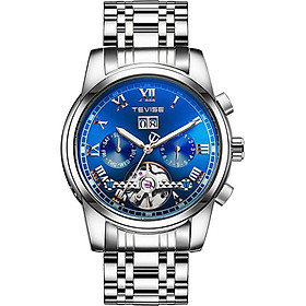 TEVISE 9005 High-quality Skeleton Automatic Men Mechanical Watch Stainless Steel Clock Mens Business Men Wristwatches