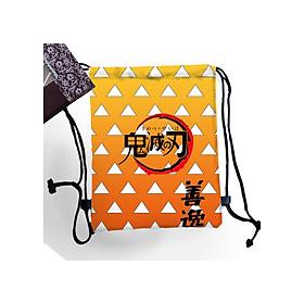 Balo túi rút in hình anime Kimetsu no Yaiba, Demon Slayer Lưỡi gươm Diệt Quỷ Mẫu hình Zenitsu