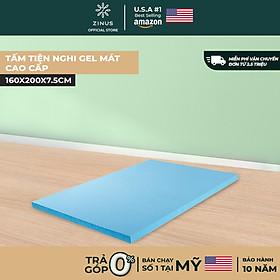 Topper Tấm Tiện Nghi Làm Mềm Nệm Gel Mát Cao Cấp Zinus - Gel Memory Foam Mattress Topper with Cover 160x200*7.5cm