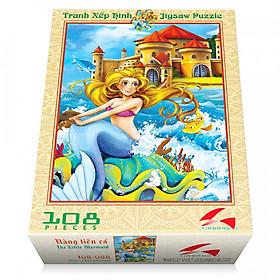 Tranh xếp hình Tia Sáng Nàng tiên cá ( 108 mảnh)