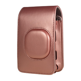 Compact Size Instant Camera Case Bag PU Leather with Shoulder Strap Compatible with Fujifilm Fuji Instax mini LiPlay