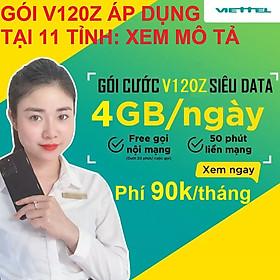 SIM 4G VIETTEL V120Z (V90 2020) - Giao số ngẫu nhiên