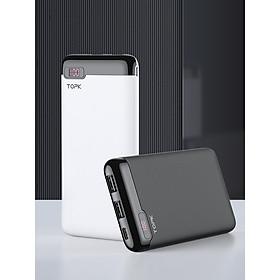 Sạc Dự Phòng TOPK I1013 Màn Hình LED Kỹ Thuật Số 10000MAhPin Dự Phòng Cho Điện Thoại Di Động Xiaomi Huawei iPhone 11 Oppo Vivo Samsung - Hàng chính hãng