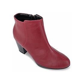 Giày Boot Nữ Cổ Thấp Trơn - Đỏ